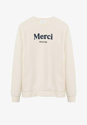 Sweatshirt - šedobílá