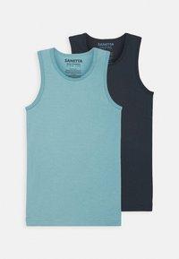 Sanetta - TEENS 2 PACK - Undershirt - blue terne - 0