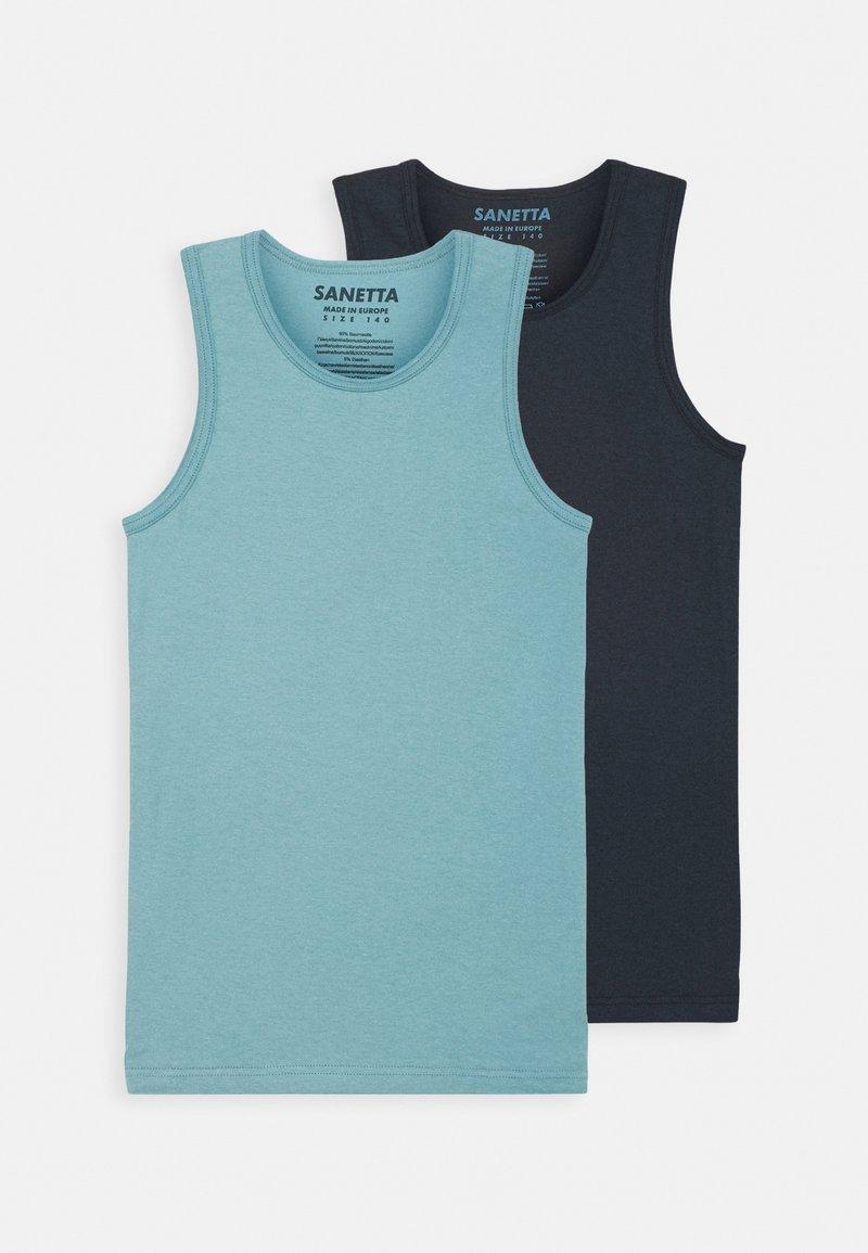Sanetta - TEENS 2 PACK - Undershirt - blue terne