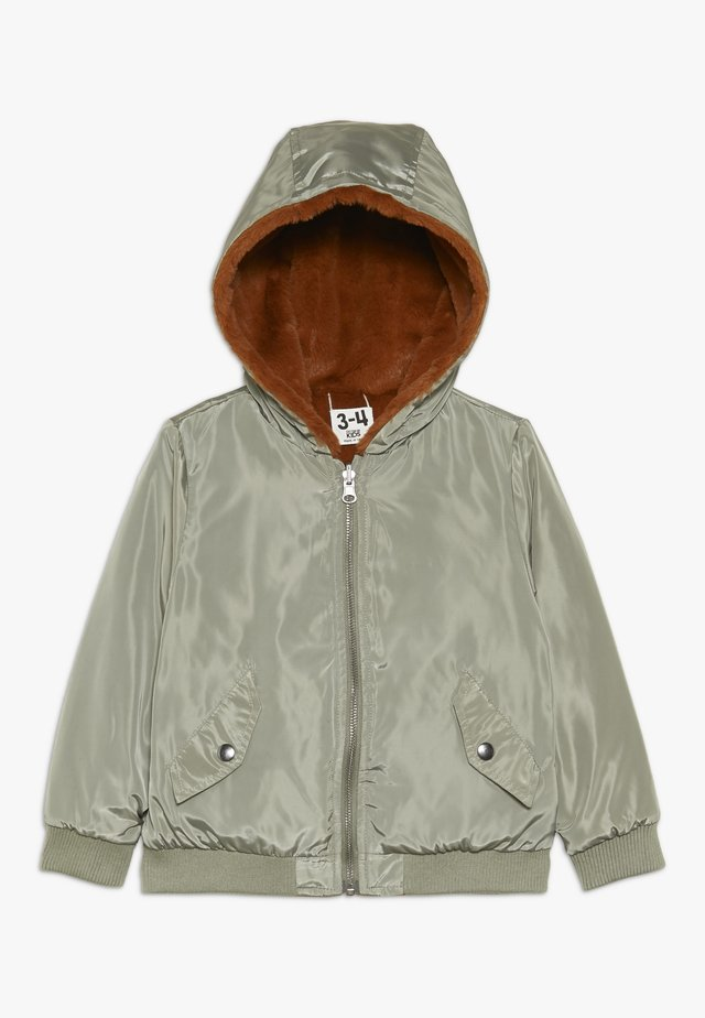 ANNIE REVERSIBLE JACKET - Winterjas - khaki/amber brown