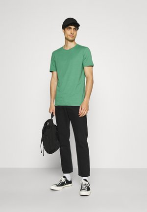 5 PACK - T-shirt - bas - green/grey/yellow