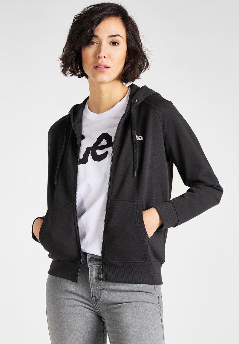 Lee - Zip-up sweatshirt - black