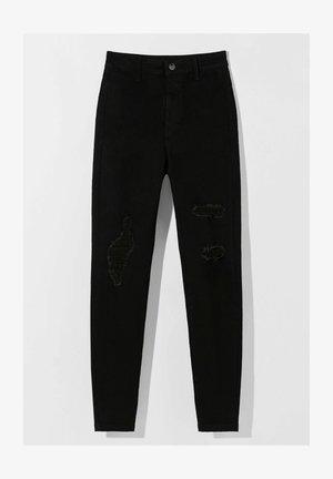MIT RISSEN  - Jeans Skinny Fit - black