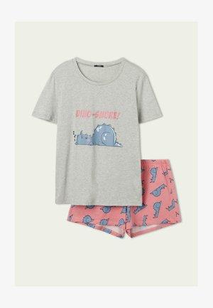 DINOSAURIERPRINT - Pyjama set -  grigio mel.chiaro st.dino snor