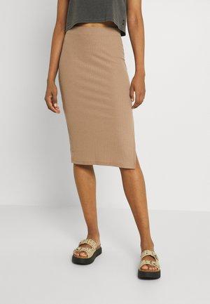 ONLNELLA  SLIT SKIRT - Pencil skirt - toasted coconut