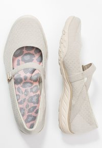Skechers - BREATHE-EASY RELAXED FIT - Ankle strap ballet pumps - natural soft/taupe - 3