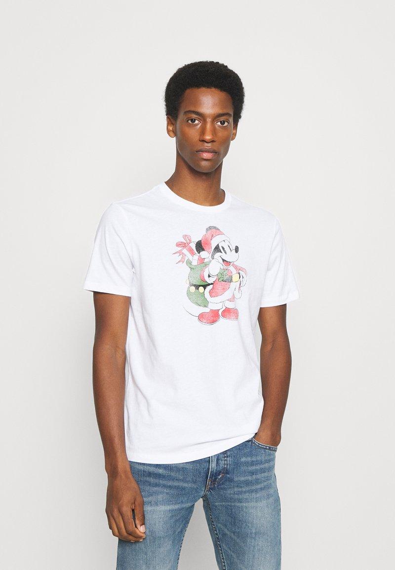 GAP - SANTA MICKEY - Print T-shirt - white global