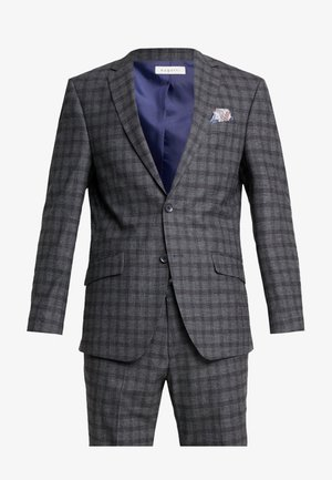 SUIT SLIM FIT - Oblek - grey/check
