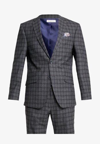 SUIT SLIM FIT - Completo - grey/check