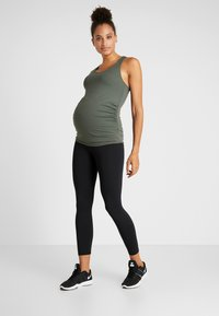 Cotton On Body - MATERNITY FITTED TANK - Linne - khaki - 1