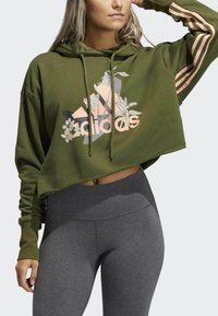 adidas Performance - Hoodie - green - 4