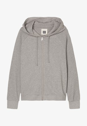 Zip-up hoodie - medium grey melange