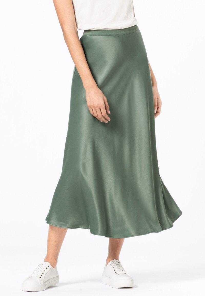 HALLHUBER - ROCK SWIRLING - A-line skirt - seegrün