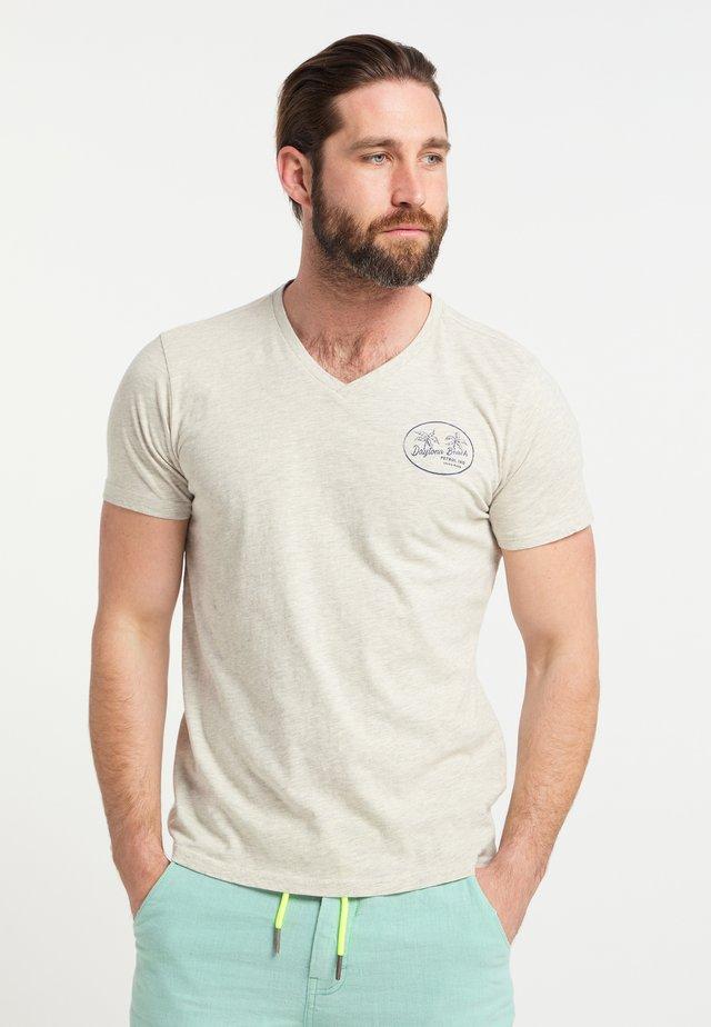 T-shirts print - silver grey melee