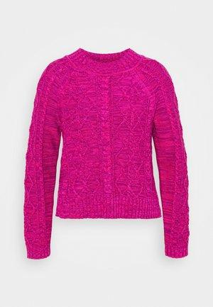 CABLE CREW - Strikkegenser - pink marl