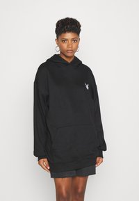 Missguided - PLAYBOY CHERRY GRAPHIC HOODY DRESS - Hoodie - black - 0