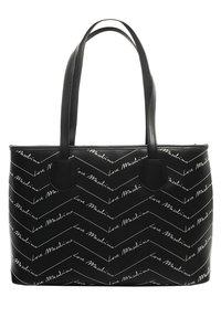 Love Moschino - SHOPPER MIT LABEL PRINT - Handbag - schwarz - 1