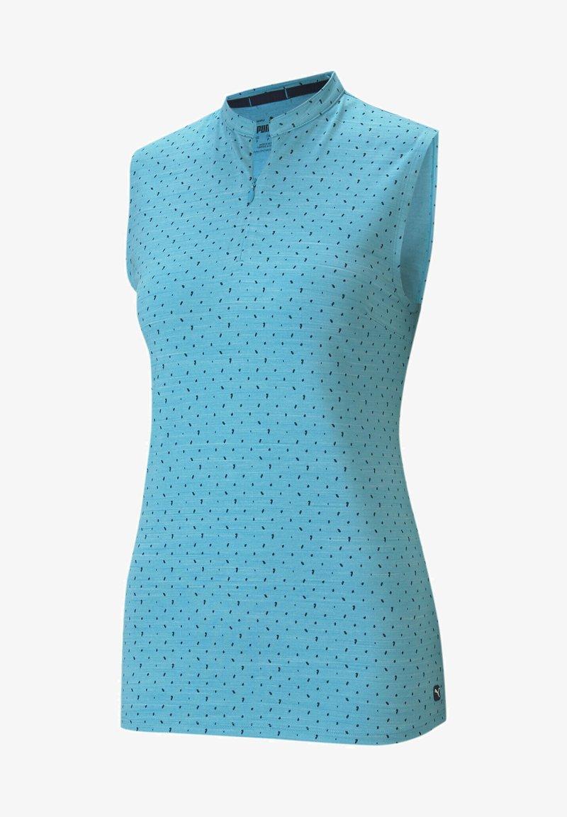 Puma Golf - CLOUDSPUN SLEEVELESS POLKA - Top - scuba blue-navy blazer