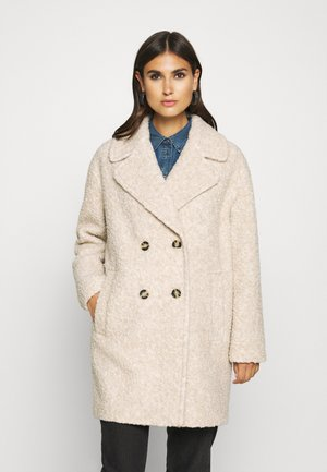 COAT CURLY LOOSE FIT WIDE REVERS - Classic coat - alpaca melange