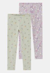 Lindex - MINI 2 PACK - Leggings - Trousers - light lilac - 0