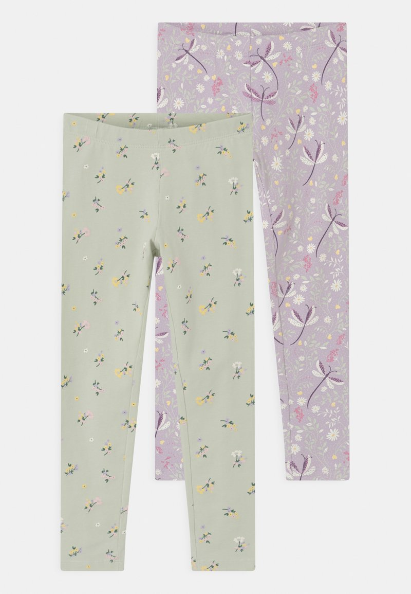 Lindex - MINI 2 PACK - Leggings - Trousers - light lilac