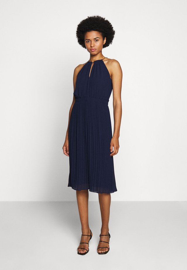 CHAIN NECK MIDI DRESS  - Cocktail dress / Party dress - true navy