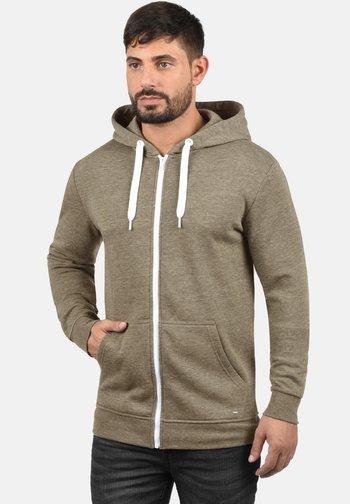 OLLI - Zip-up sweatshirt - sand melan