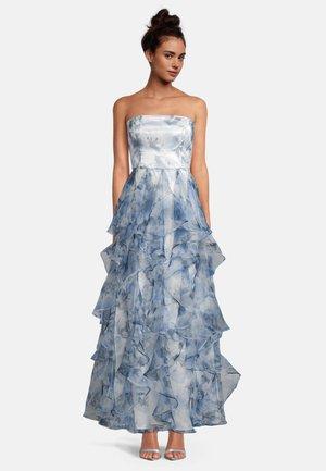 MIT VOLANT - Cocktail dress / Party dress - cream/light blue