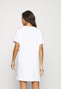 adidas Originals - STRIPES SPORTS INSPIRED REGULAR DRESS - Jersey dress - white/scarlet - 2