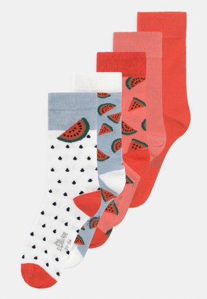 ONLINE JUNIOR COMIC FRUIT 5 PACK - Socks - hot coral