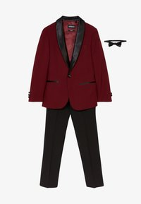 OppoSuits - HOT TUXEDO TEENS SET - Oblek - burgundy - 5