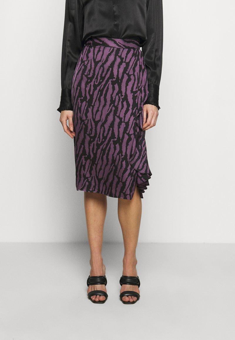 Bruuns Bazaar - TREE VIOLIS SKIRT - A-line skirt - artwork purple