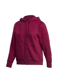 adidas Performance - AEROREADY JACQUARD FULL-ZIP LOGO HOODIE (PLUS SIZE) - Sudadera con cremallera - purple - 9