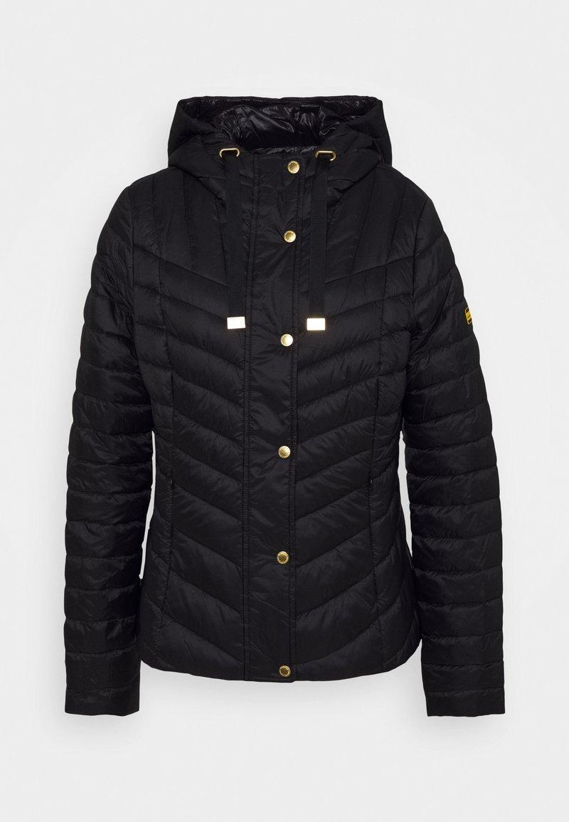 Barbour International - LIGHTNING QUILT - Lehká bunda - black
