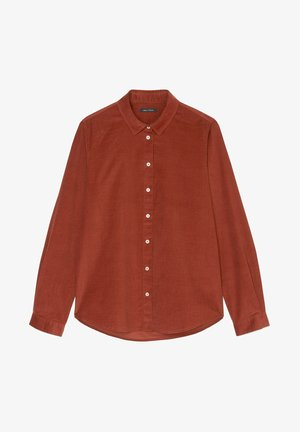 Button-down blouse - burnt brick