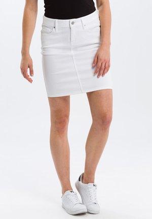 MILLIE - Denim skirt - white