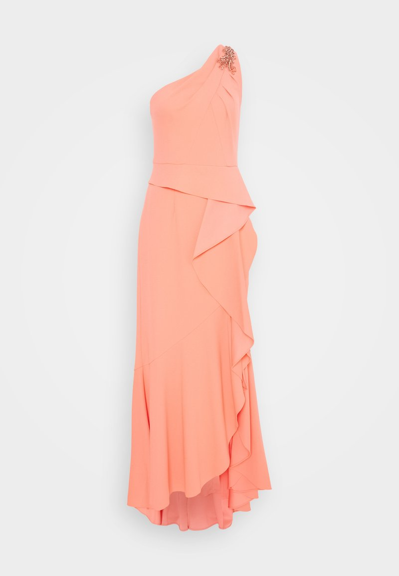 Adrianna Papell - ONE SHOULDER GOWN - Iltapuku - coral punch