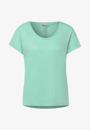 IM SEIDEN LOOK - Basic T-shirt - grün