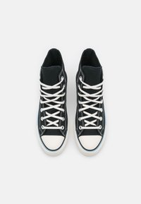 Converse - CHUCK TAYLOR ALL STAR FLORAL FUSION PATCH PLATFORM - High-top trainers - black/blue/egret - 5