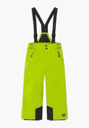 GAUROR - Snow pants - lime/schwarz