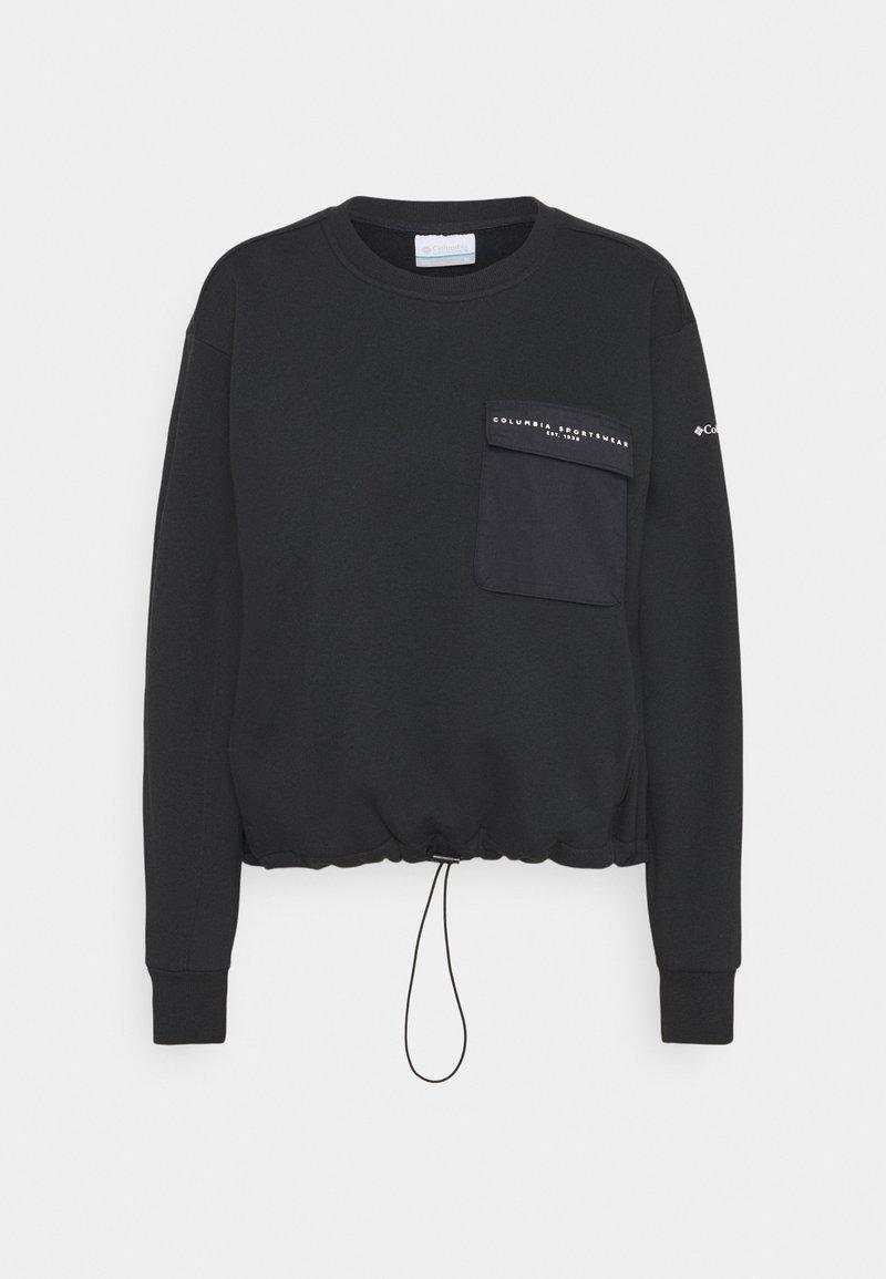 Columbia - LODGE III CREW - Sweatshirt - black