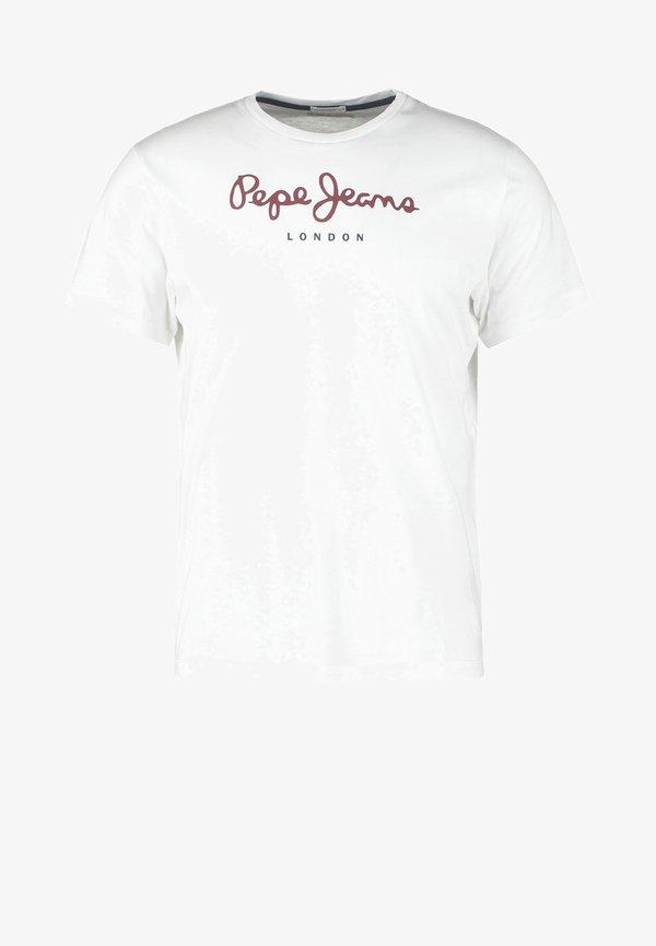 Pepe Jeans EGGO - T-shirt z nadrukiem - 800white/biały Odzież Męska URIL
