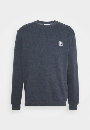 Sweatshirt - mottled dark blue