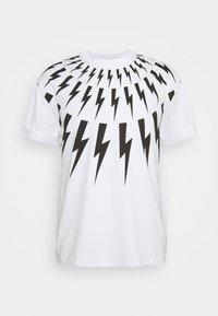 Neil Barrett - FAIRISLE THUNDERBOLT - T-shirt imprimé - white/black - 6
