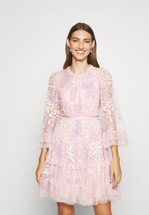 AUDREY LONG SLEEVE MINI DRESS - Cocktail dress / Party dress - ballerina pink