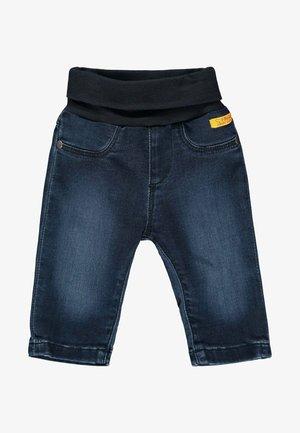 MIT NIEDLICHEM TEDDYBÄR - Straight leg jeans - mood indigo