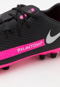 Nike Performance - PHANTOM GT ACADEMY AG - Moulded stud football boots - black/metallic silver/pink blast - 5