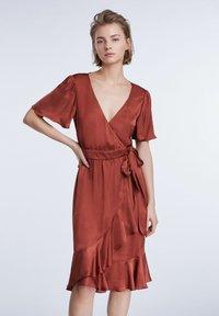 SET - Day dress - terracotta - 3