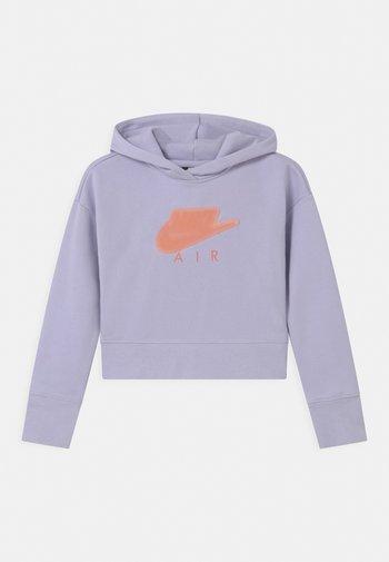 AIR CROP HOODIE  - Hoodie - purple chalk