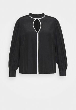 KEYHOLE - Blouse - black/white